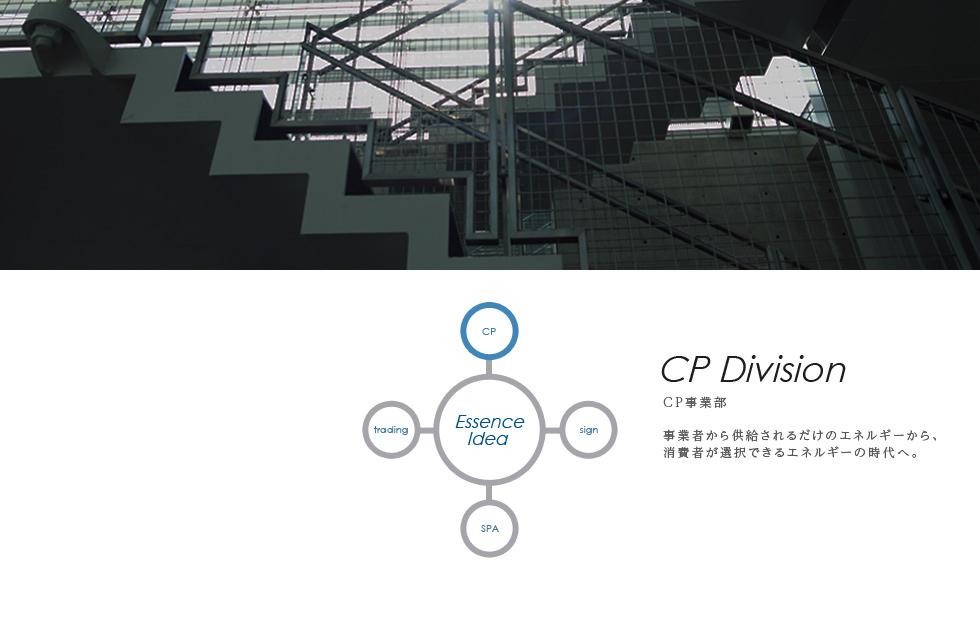 CP事業部 事業者から供給されるだけのエネルギーから、消費者が選択できるエネルギーの時代へ