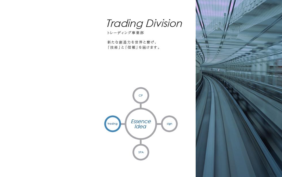トレーディング事業部 新たな創造力を世界と繋げ、「技術」と「信頼」を届けます